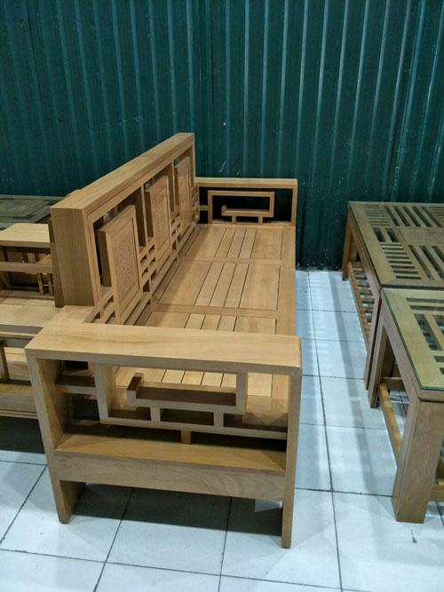 Ghế dài ghế tựa kép sồi mỹ