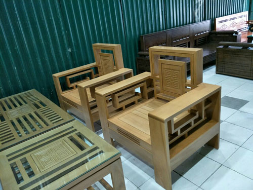 Ghế đơn ghế tựa kép sồi mỹ