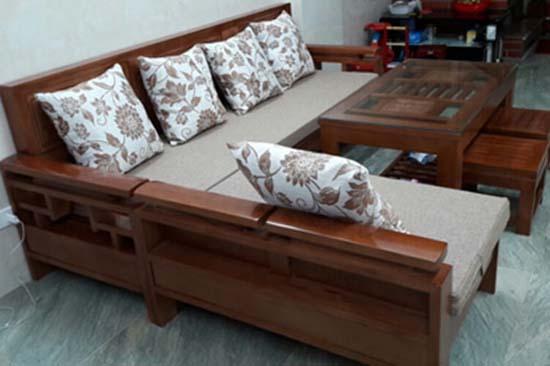 Bàn ghế gỗ tự nhiên mẫu đơn tựa ô nhỏ