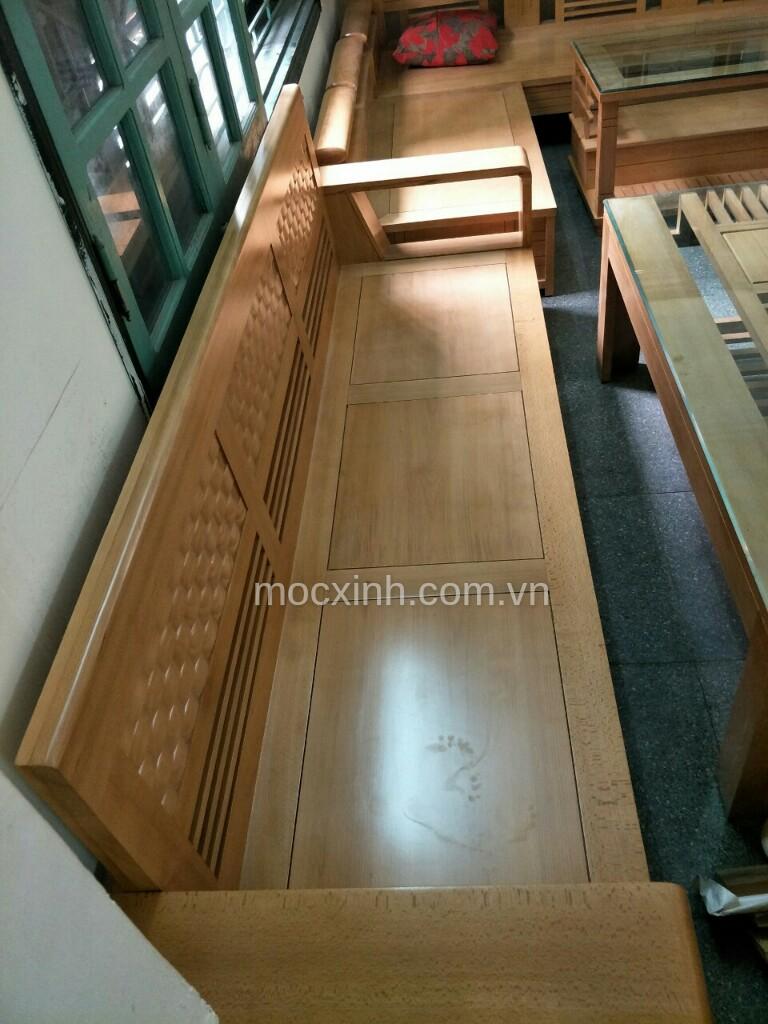 Ghế dài bộ bàn ghế gỗ tự nhiên cót đại sồi mỹ
