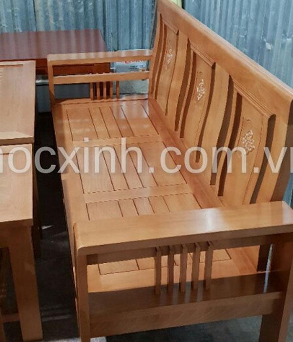 VĂNG DÀI bộ bàn ghế gỗ tay đơn hoa tây