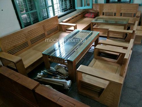 bộ bàn ghế gỗ tự nhiên cót đại sồi mỹ