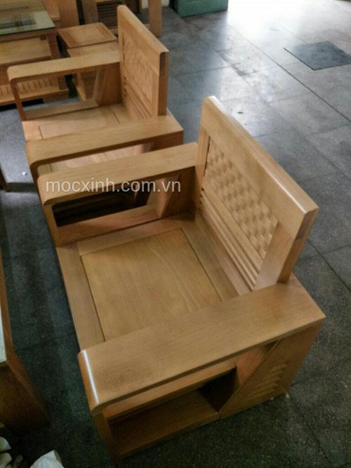 Ghế đơn bộ bàn ghế gỗ tự nhiên cót đại sồi mỹ