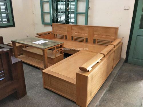 bộ bàn ghế góc phòng khách hộp tựa ô nhỏ