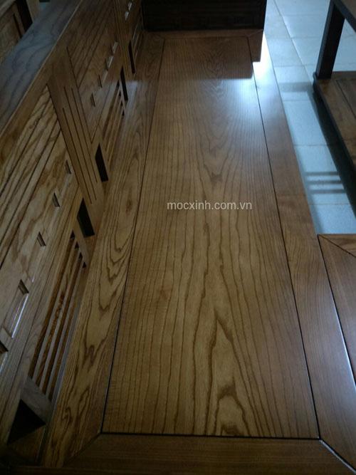 sofa gỗ hộp tựa ô nhỏ sồi nga lau màu óc chó