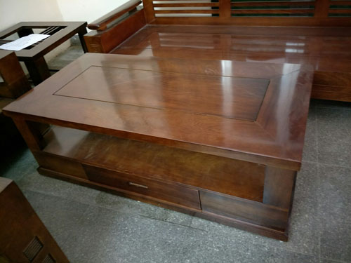 BÀN TRÀ Sofa góc phòng khách gỗ dâu