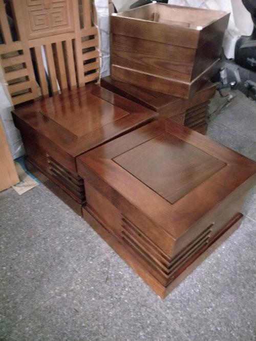 Đôn hộp Sofa góc phòng khách gỗ dâu