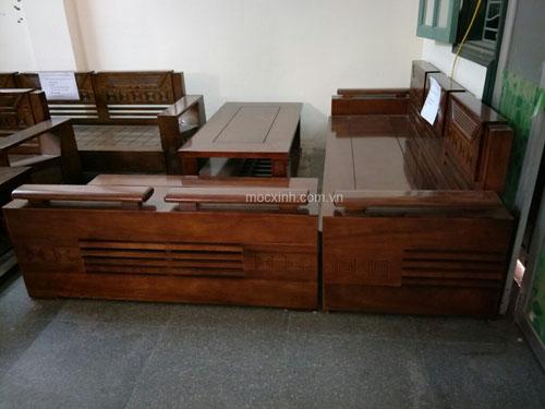 Sofa góc phòng khách gỗ dâu
