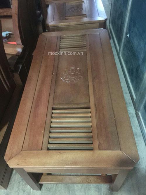 BÀN TRÀ bộ bàn ghế tựa cong tay chồng xoan đào gia lai