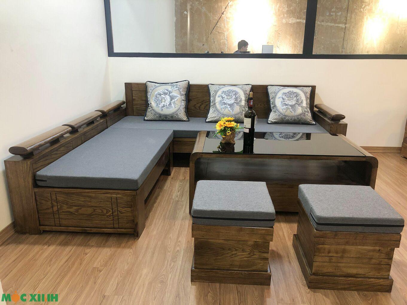 Bộ bàn ghế gỗ sồi phù hợp với nhiều không gian