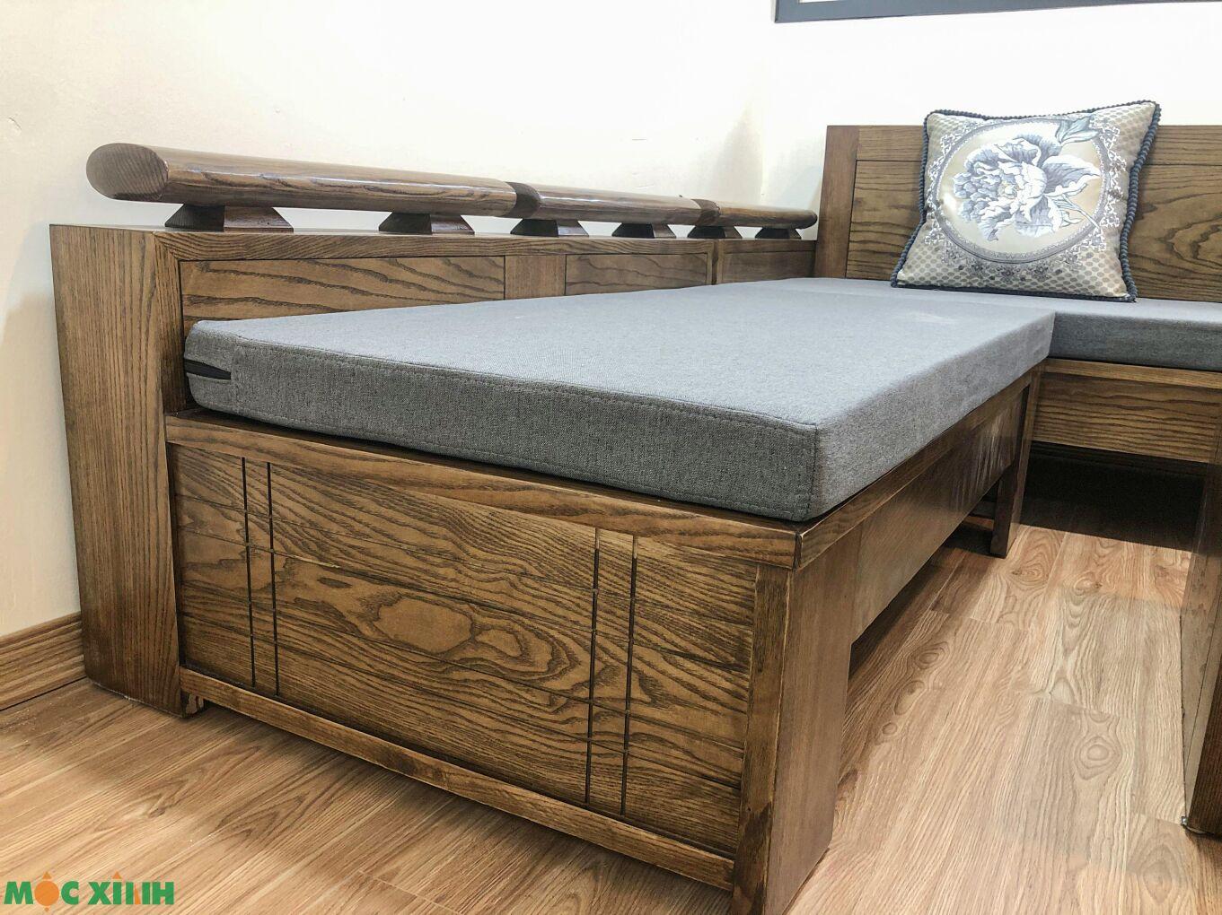 Bộ bàn ghế gỗ sồi có nệm mút êm ái