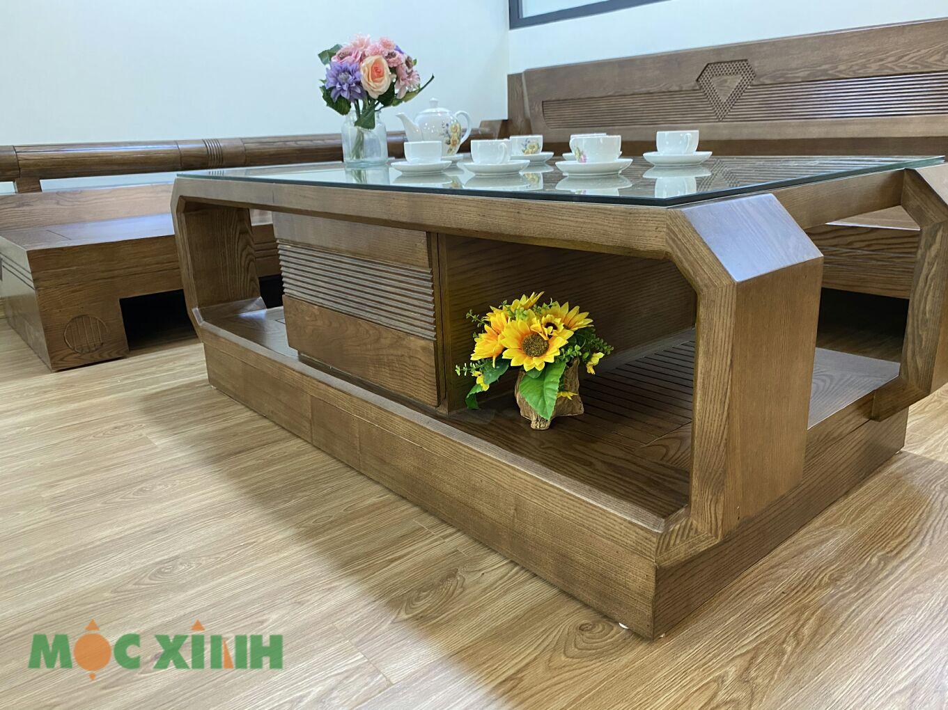 Phần hộc ngăn bàn có thể làm nơi để đồ vật và trang trí