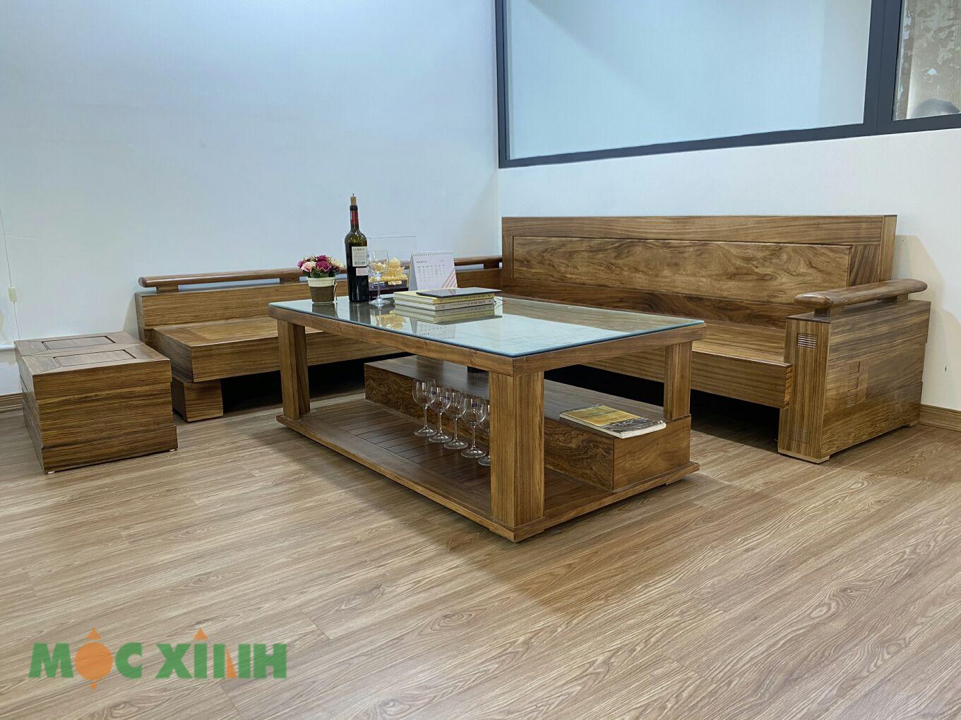 Mẫu bàn ghế gỗ hương xám đẹp và chất lượng