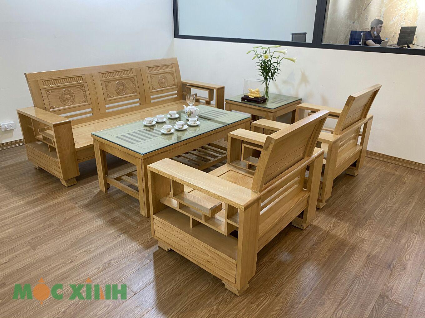 Mẫu bàn ghế phòng khách này phù hợp với nhiều không gian